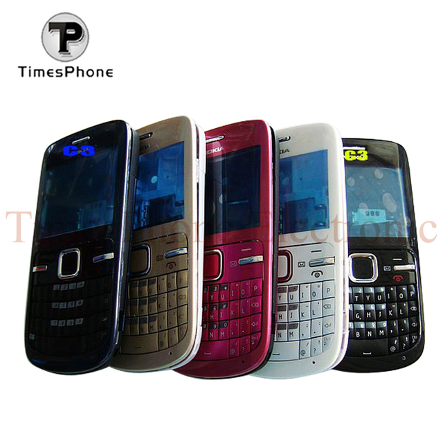 timeless design 70260 eb1b2 US $4.5 |New Replacement Full Housing Cover Case For Nokia C3 C3 00 C3 00  Housing With Keypads-in Mobile Phone Housings & Frames from Cellphones & ...