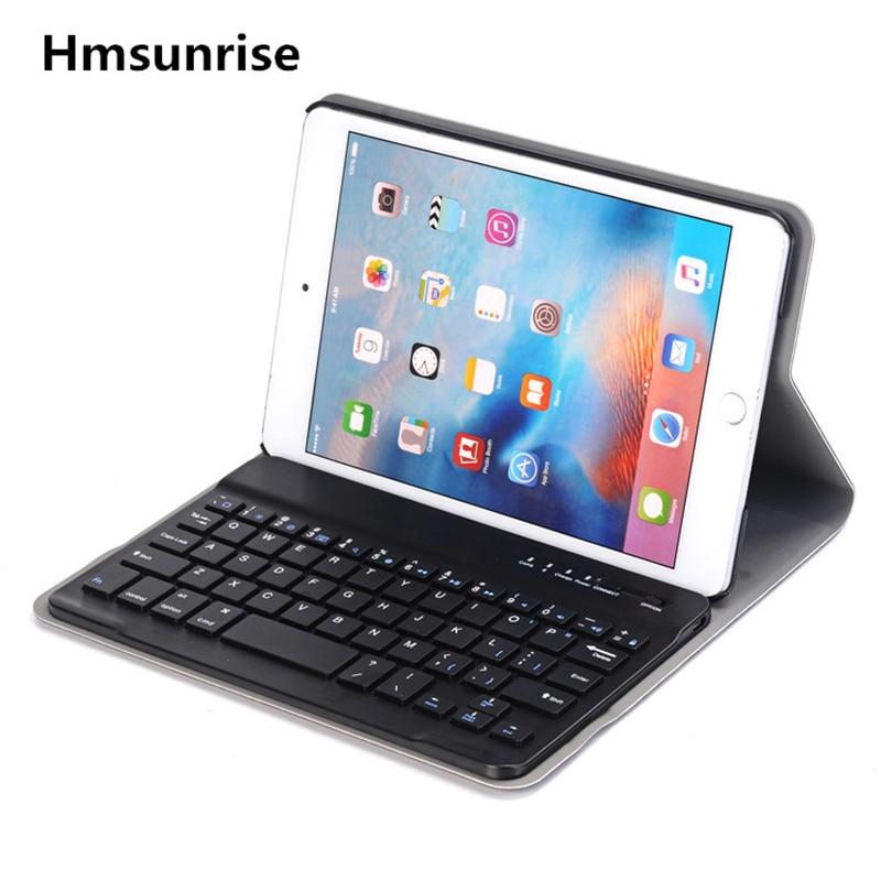Hmsunrise For ipad mini4 Multifunction Removable Wireless Bluetooth Keyboard Case For apple ipad mini 4 tablet A1538 A1550 цена