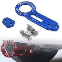 Car-Styling Aluminum Car Racing Trailer Ring Blue Tow Hook Eye Tow Car Screwon Towing Bars Universal For Car Auto Trailer Ring abs metal colorful tow hook allen wrench car auto trailer decorative tow hook universal for truck suv front bumper automotive