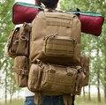 Melife 2017 militar do exército equipamentos de camping saco das mulheres dos homens caminhadas esporte mochilas capacidade pacote combinação tático 50l