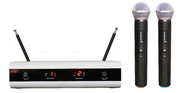 STARAUDIO  Professional Wireless VHF PA DJ Karaoke Microphone System 2 Handheld Microphones SMVW-2001A