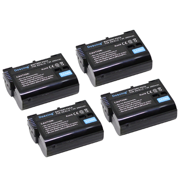 Doscing 4Pcs EN-EL15 ENEL15 EL15 Camera Battery for Nikon D500,D600,D610,D750,D7000,D7100,D7200,D800,D850,D810,D810A 1 V1