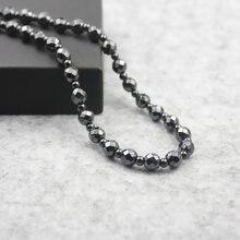 Ожерелье из блестящих магнитных бусин с гематитовым покрытием