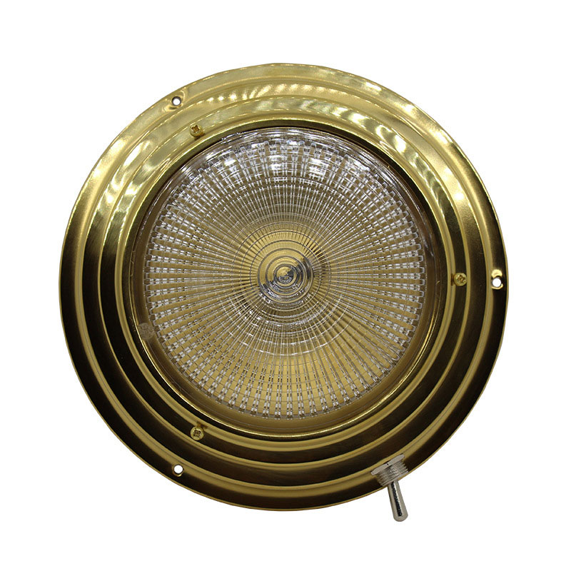 Brass Car Interior Dome light 137MM Base Marine Boat Yacht 3W Warm White LED Light 8 30V DC-in Marine Hardware from Automobiles & Motorcycles