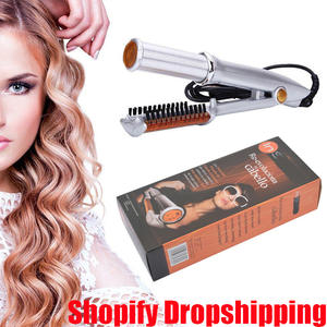 Hair Brush Fast Hair Straightener Curling and Straightening Hairdressing Tools Electric Curling and Straightening Iron