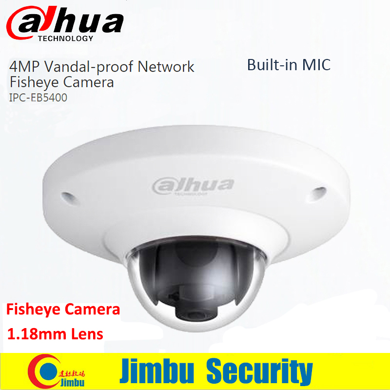 Dahua 4MP Fisheye IP Camera IPC-EB5400 Full HD PoE WDR Panorama 360 Degree Dome COMS CCTV camera built-in MIC support SD card a7220 usb built in mic 360° rotating web camera for pc laptop