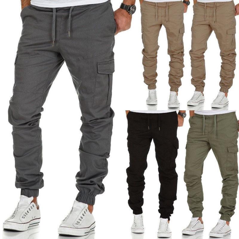 Joggers Mens Pants 2018 New Fashion Long Pans Pure Color Pencil Pants Streetwear For Man Tracksuit Fitness Joggers