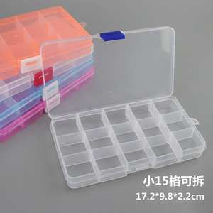 Case Container-Ring Organizer Jewelry-Tool Storage-Box Screw-Beads Electronic-Parts 15-Slots