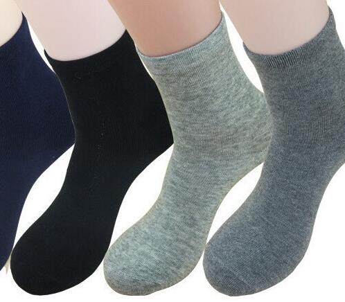 black gray color 2017 trendy business sock brand new solid color autumn winter Business Men cotton Socks qt089