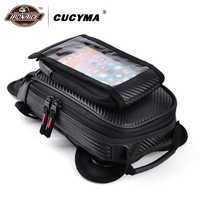 CUCYMA Motorcycle Bag Moto Bags Waist Oil Touch Screen Mobile Phone Pocket Multifunction Casual Leg Bags Travel Baggage