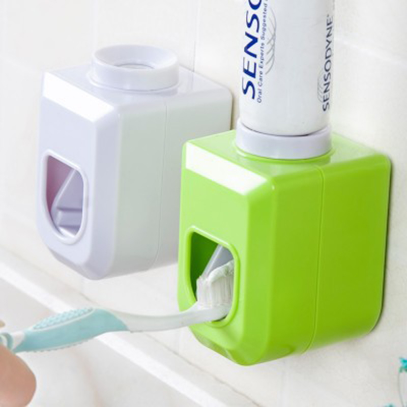 Basupply 1Pc Toothpaste Squeezer Hands Free Automatic Toothpaste Dispenser Squeeze Out Wall Mount Bathroom Accessories Kitchen