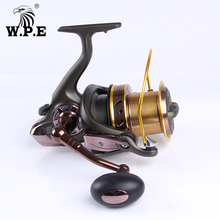 W.P.E LONG SHOT Series 9000 10000 Large Spinning Fishing Reel with Spool Fresh Water Carp Wheel Tackle