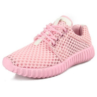 Spring big boy, girl, candy, multicolored mesh shoes, breathable mesh, casual shoes, student summer 2018