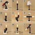 9 типов бесплатная доставка деревянная основа украшение водопровод Настольная лампа для ресторана кафе бар