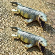 2019 Hot classic marine dinosaur classic simulation Jurassic dinosaur mosasaurus pvc model boy educational toys hot toy mosasaurus dinosaur model hand paint soft pvc animal action