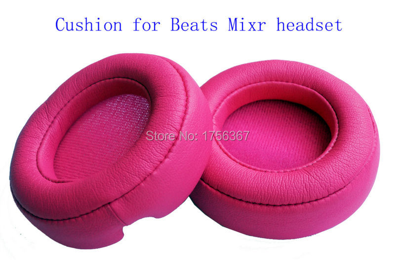 Replace Cushion ear pad for Beats Mixr/Monster Beats Mixr headphones(Earmuffes/ headphone cushion) Original ear pads Rose red