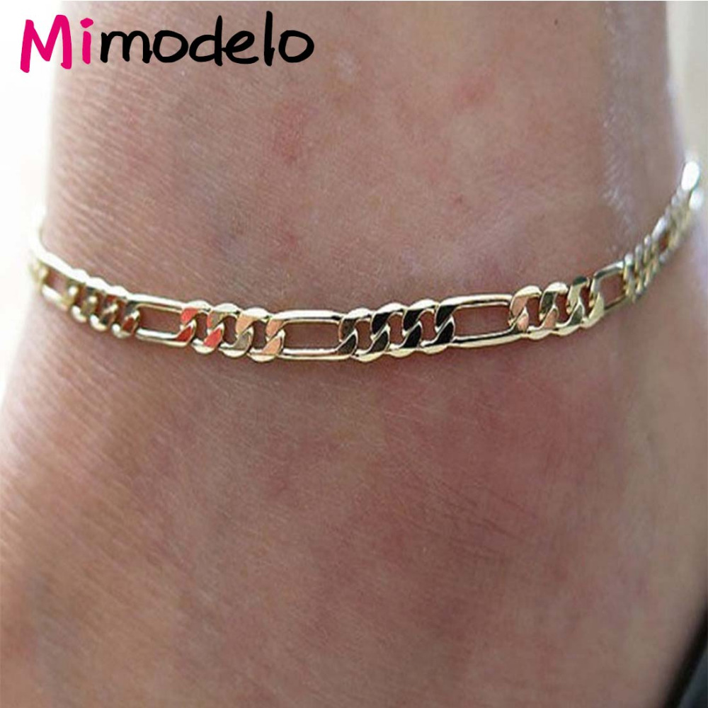 New 1Pcs Anklet Gold Color Exquisite Trendy Foot Chain Ankle Bracelets For Women Gold Foot Jewelry For Both Men Women