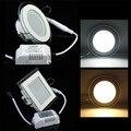 Светодиодный светильник из стекла 24 Вт  Встраиваемый светодиодный светильник 6 Вт 12 Вт 18 Вт  светильник для спальни  ванной комнаты  110 В 220 В с...