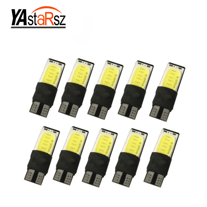 10x High power t10 w5w led cob car led t10 5w5 12v t 10 bule white car light fog Lamp interior light w5w t10 canbus error free wholesale 10pcs lot canbus t10 5smd 5050 led canbus light w5w led canbus 194 t10 5led smd error free white light car styling