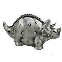 Saideke Metal Retro dinosaurio Stegosaurus modelo caja de dinero caja de Monedas Alcancía Animales Regalos de Cumpleaños de Navidad la Decoración Del Hogar