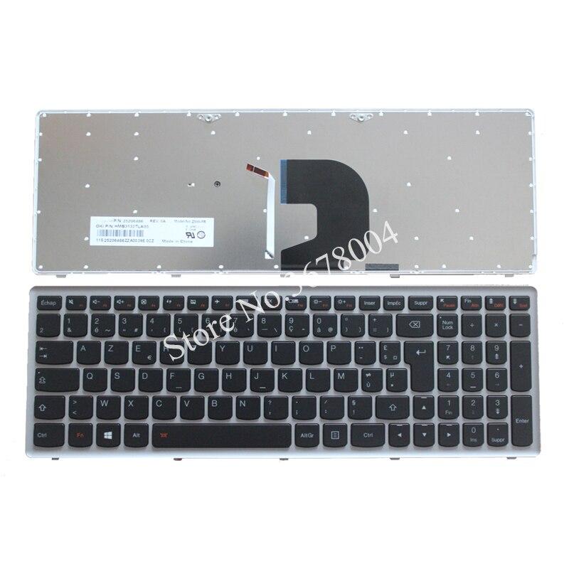 New French Laptop keyboard for Lenovo Ideapad Z500 Z500A Z500 Z500G P500 backlit Led FR keyboard with frame new azerty french keyboard for lenovo ideapad yoga 13 yoga13 laptop french keyboard 25205814 v 127920fk1 fr