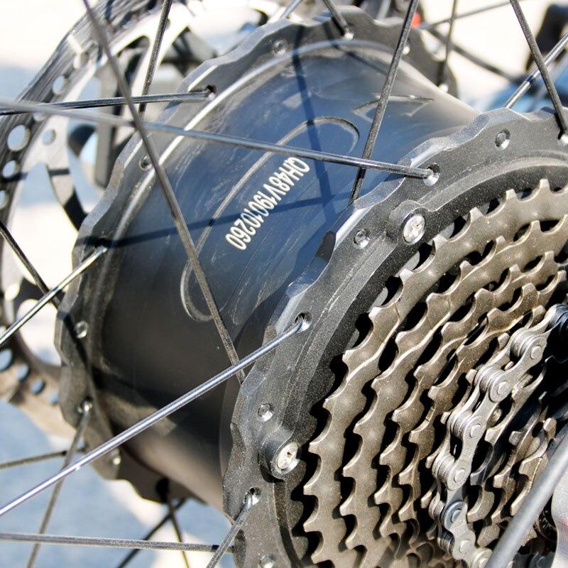 Neue ebike Elektrische Fahrrad 27 Geschwindigkeit 10AH 48V 500W E bike 26*4,0 Berg Bikes Fett bike straße Elektrische fahrrad Aluminium Legierung
