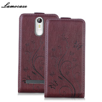 Lamocase Embossing Case Vertical Flip Case For Leagoo M8 M8 Pro PU Leather Cover For Leagoo
