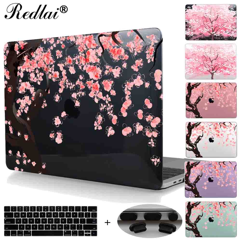 Cherry Blossom Plastic Hard Case For Macbook Air 11 13 Pro 13 15 Retina 12 13 15 Laptop bag For Mac Book Pro 13 15 Touch bar for macbook new pro 13 15 touch bar laptop case for mac book air pro retina 12 13 15 creative lamp blackboard print hard cover