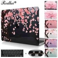 Cherry Blossom Seamless Sakura Pattern Laptop Clear Case For Air 11 12 13 Print Flowers Hard