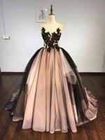 Vestido De Festa Evening Dress Robe De Soiree V Neck Long Tulle Party Evening Dresses 2018