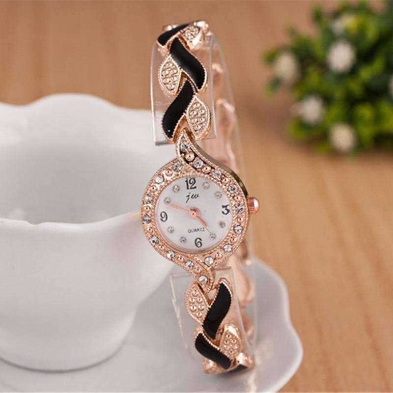 2019 nowy marka JW bransoletki z zegarkiem kobiety luksusowy kryształ sukienka zegarki na rękę zegar moda damska zegarek kwarcowy na co dzień reloj mujer 1