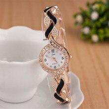 Бренд JW браслет часы Для женщин Роскошная обувь с украшением в виде кристаллов модельные Наручные часы Женская Мода Повседневное кварцевые часы reloj mujer