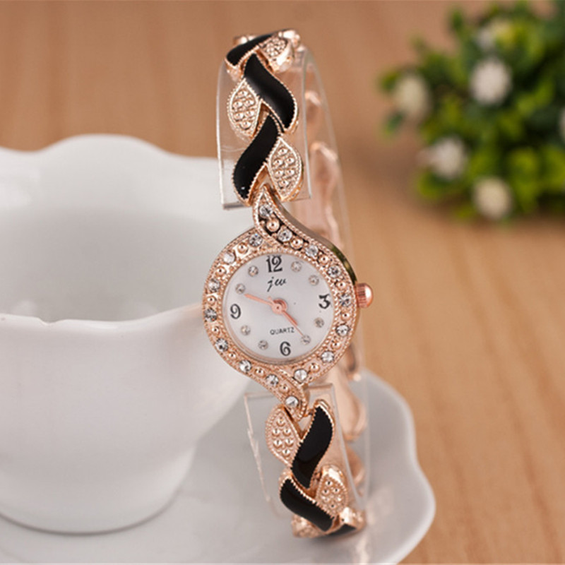 2018 New Brand JW Bracelet Watches Women Luxury Crystal Dress Wristwatches Clock Women