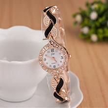 2018 nowe marki JW bransoletka zegarki damskie luksusowe Crystal Dress zegarki na rękę zegar damska moda casual zegarek kwarcowy Reloj mujer tanie tanio 19cm Wstrząsy 25mm Quartz Okrągłe No waterproof 10mm Szklane Papieru Fashion Casual Bracelet Clasp Stal nierdzewna