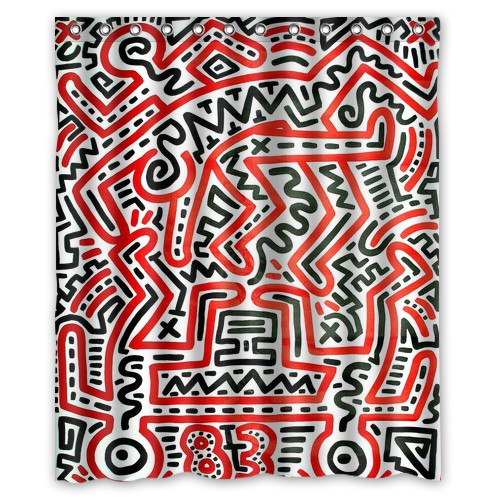 Free Shipping High Quality Shower Curtain Keith Haring 66 X 72 60 In Curtains From Home Garden On Aliexpress