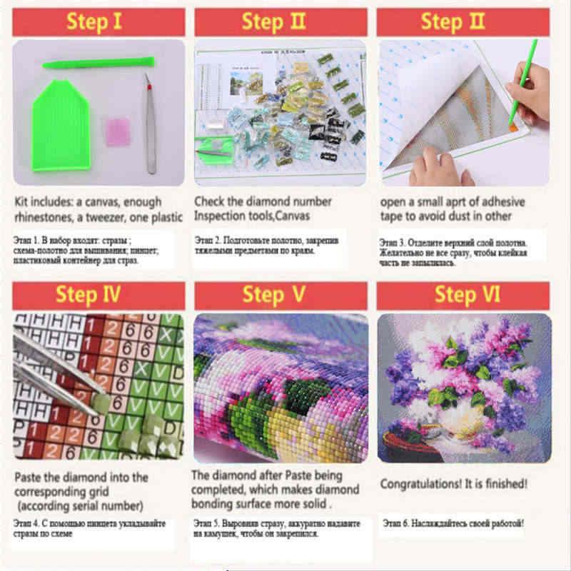 Full DIY เพชรจิตรกรรมชุดแจกันดอกไม้เบญจมาศ Cross Stitch เย็บปักถักร้อยเพชร rhinestone Mosaic home decor