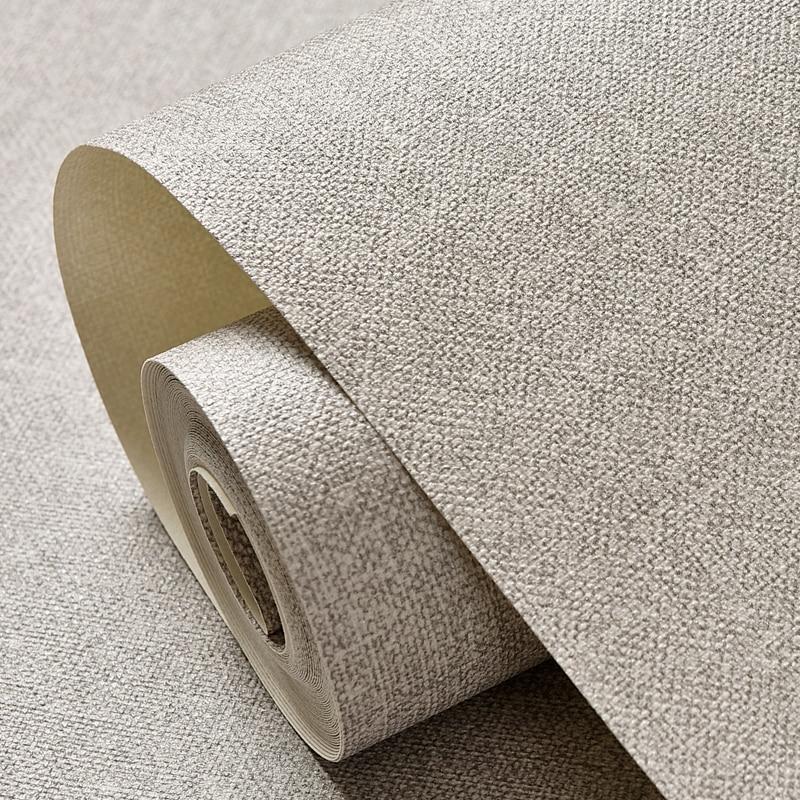 modernen einfarbig tapeten wasserdichte leinen strukturierte wandpapierrolle grau beige gelb khaki tapete vinyl schlafzimmer wnde in modernen einfarbig - Tapete Grau Beige