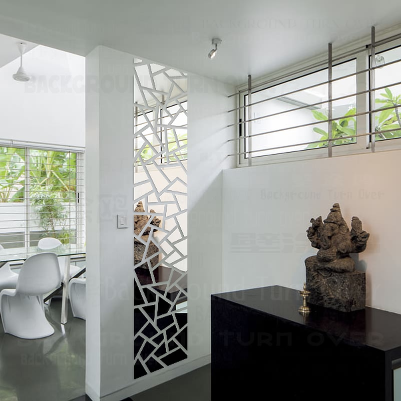 Geometria Abstrata moderna Forma de Retângulo 3D Espelho Acrílico Adesivos de Parede Home Decor Sala Cenário Decoração Mural R068