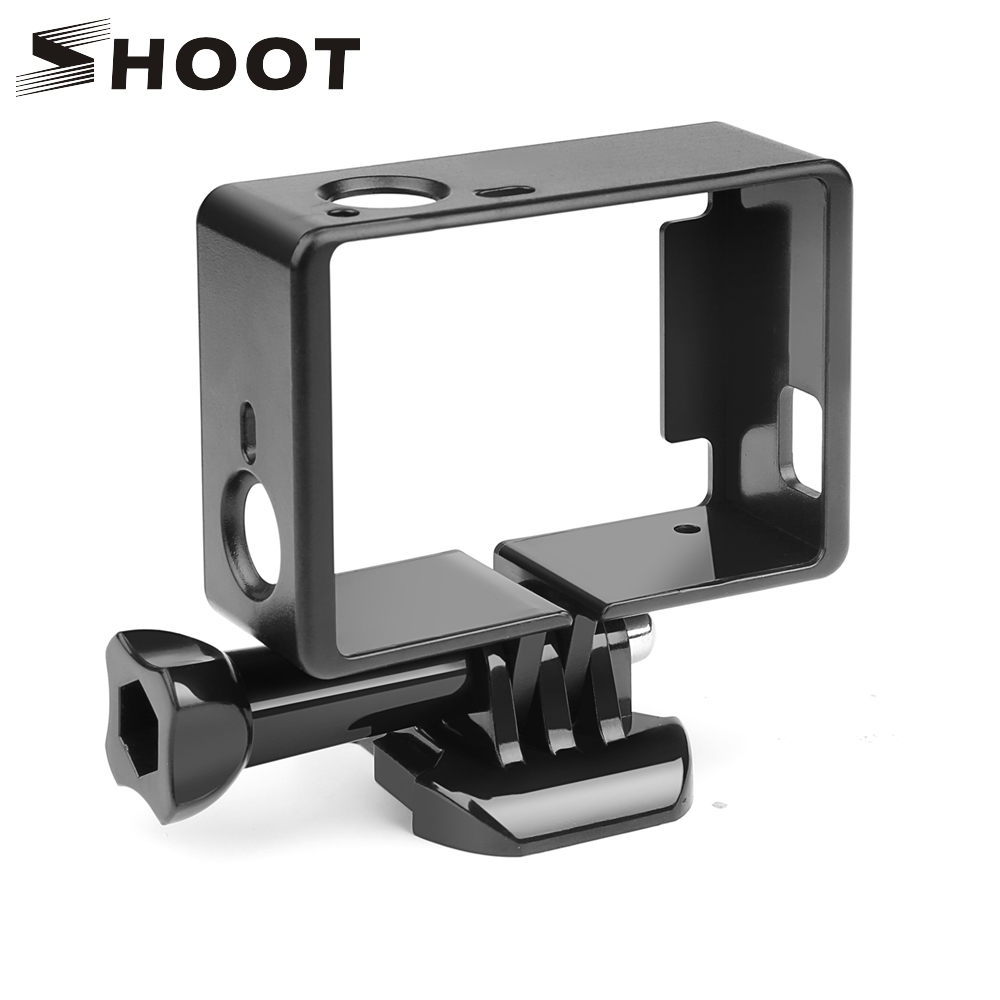 SHOOT Standard Protective Border Frame for Gopro Hero 4 3+ Black 3 Camera Case Protector Mount For Go Pro 3+ 4 Camera Accessory pj 002 protective silicone case wrist band for gopro hero 3 3 wi fi remote controller blue
