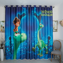 Custom Made 2x Grommet Drapery Drape Curtain Nursery Kids Children Room Window Dressing 200cm x 260cm Boy Dinosaur Green Blue