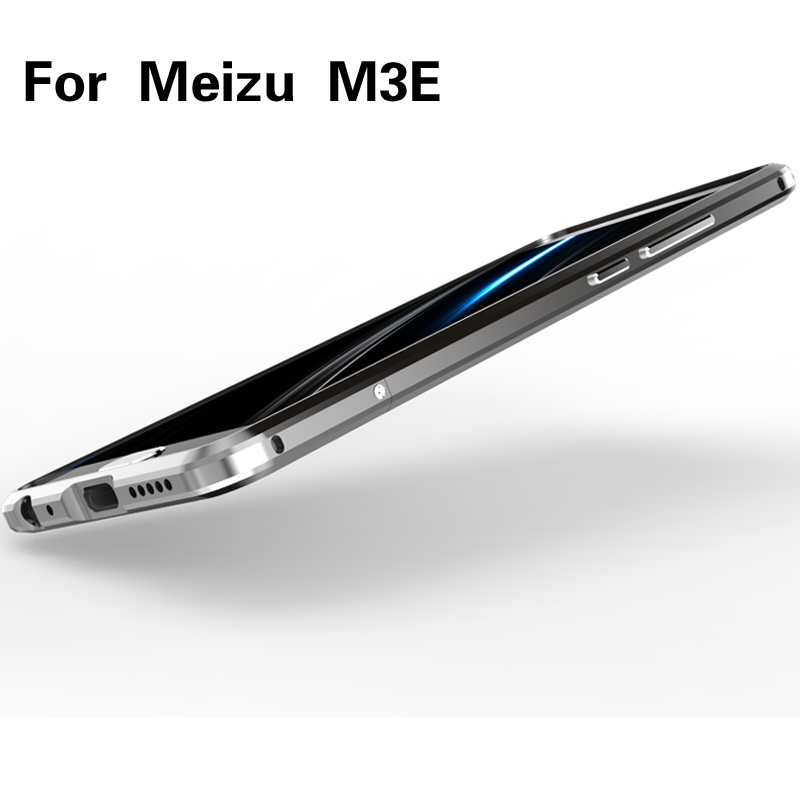 Luxury Original Brand LUPHIE Aluminum Metal Bumper For Meizu M3E ( Meilan E ) Case Column Shape Frame With Metal Button