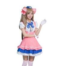 2017 милый карнавальный костюм Горячая японского аниме Love Live конфеты горничной равномерное принцесса Vintage Лолита платье костюм талисмана