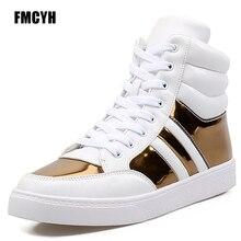 Люксовый Бренд Хип-Хоп Мужские Повседневная Обувь Белый Черный Смешанный Цвет Золото Плоским Ankel Открытый Обувь Zapatillas Supersta