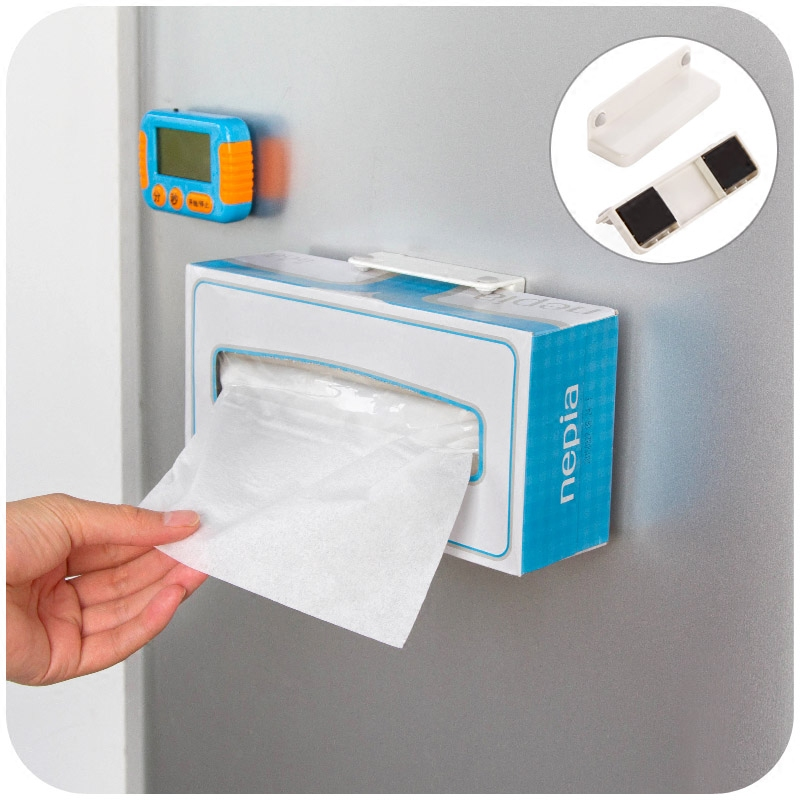 Refrigerator Magnet Magnet Towel Holder Kitchen Towel Rack Adjustable  Tissue Box Holder In Storage Holders U0026 Racks From Home U0026 Garden On  Aliexpress.com ...