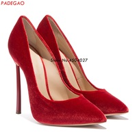 Sexy High Heels Shoes Woman Pumps Red Black Gray High Heels Shoes Woman Ladies Wedding Party Shoes 12cm