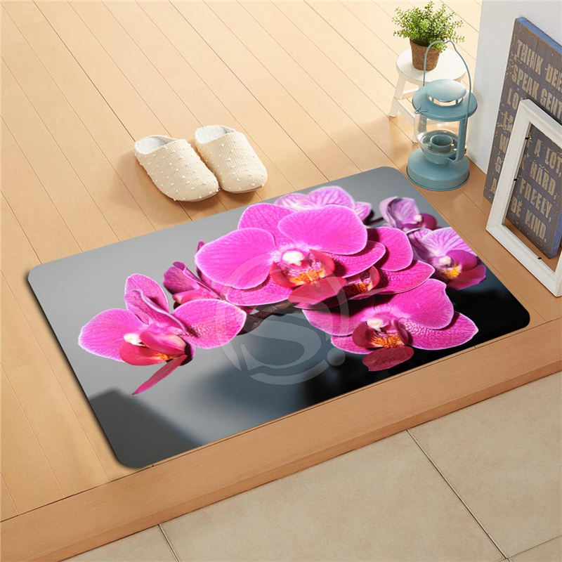 KU-49rt Custom flowers orchid flowers Doormat Home Decor Door mat Floor Mat Bath Mats foot pad U-F718!!Px-49Aty
