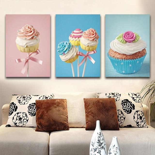 ca52b92a4 Arte Da Parede Pintura Em Tela Decorativa Casa Do Bolo doces Bolo Colorido  Retratos Da Parede