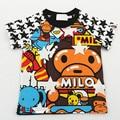 Crianças/Crianças/Enfant Verão Estrela T camisas de Algodão T Camisa Do Bebê Milo/Trajes/Camisetas/Roupas para Os Meninos/Garcon/Jongens/Meninas