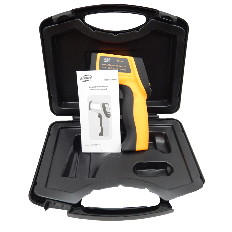 ФОТО GM900(with box) Digital ir infrared thermometer non contact infrared thermometer Gun Thermometer  adjustable