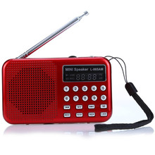 L – 065 Portable AM / FM Radio Music Speaker with USB AUX Audio Playing TF SD Card Slot